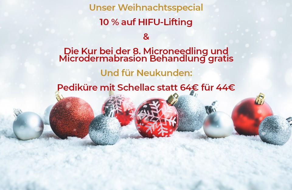 Weihnachtsangebot Kosmetikstudio Meerbusch